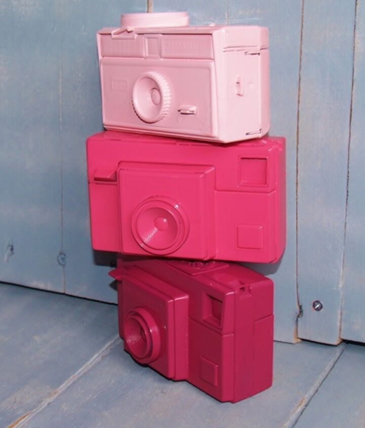 update old cameras with paint for fresh room decor, crafts, home decor, painting, repurposing upcycling