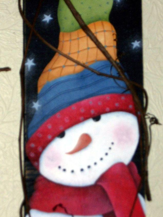Snowman on Picket by Gran Art