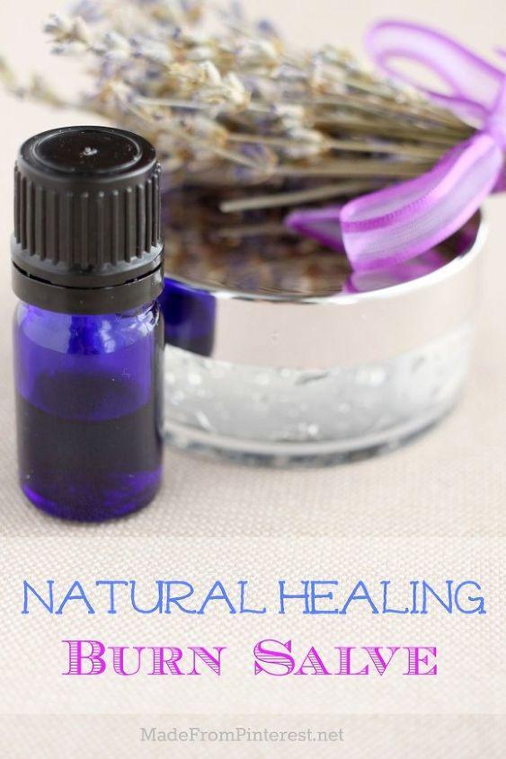 natural healing burn salve, crafts