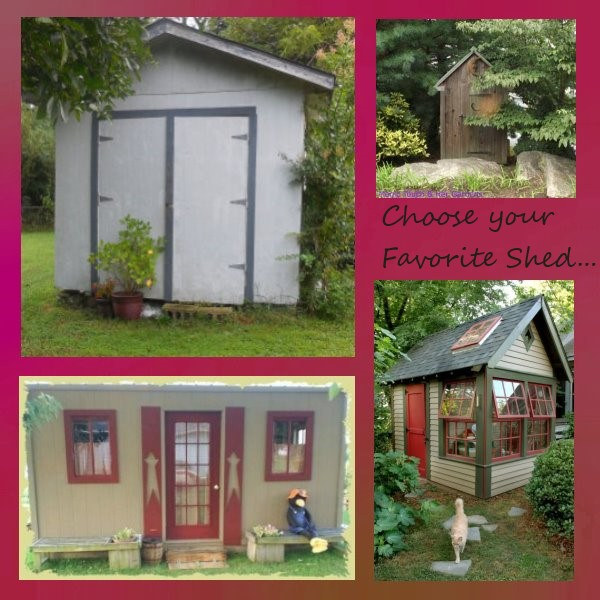 A collection of some great little sheds; there is no end of fun you can have with a shed - let your imagination run wild...