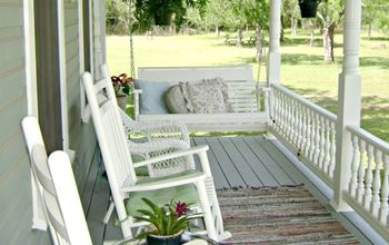 front porch transformation, curb appeal, painting, porches, This is what she looks like now so inviting and relaxing don t you think