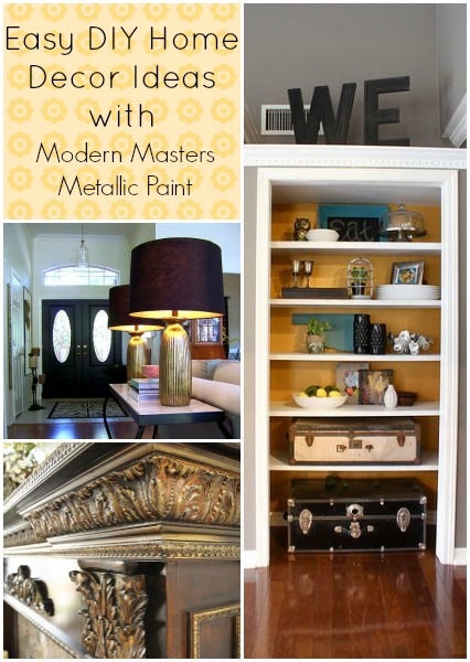 easy diy home decor projects with metallic paint, painted furniture