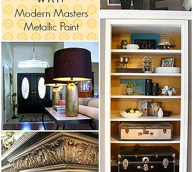 Easy DIY Home Decor Projects With Metallic Paint