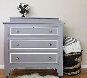 A Plum Grey Dresser With Modern Lines, Painted Furniture, After Painted In  A Gorgeous