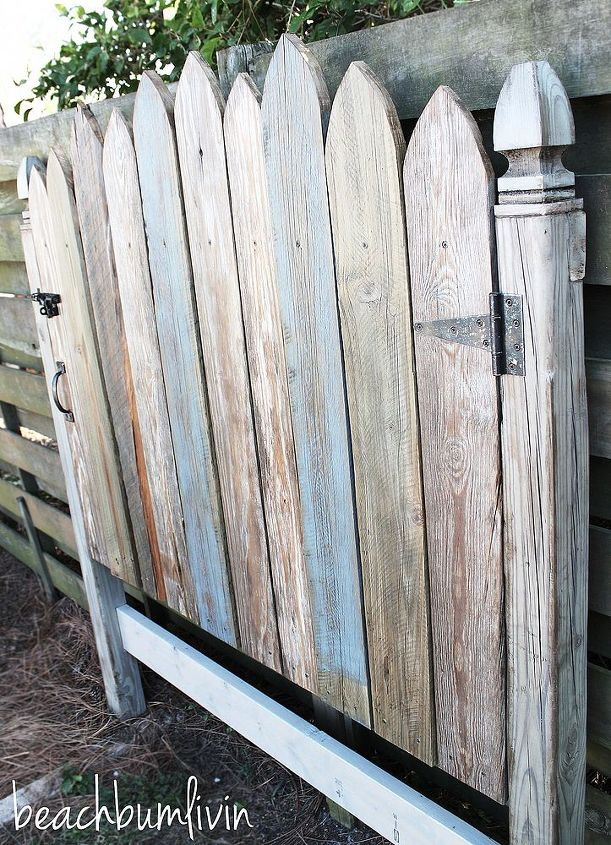 Http Beachbumlivin Com Reclaimed Wood Headboard Fence