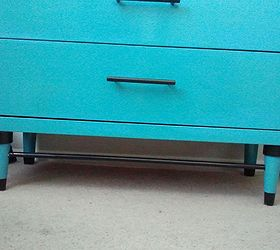 1960 S Turquoise And Black Dresser, Home Decor, Painted Furniture, It Doesn  Tshow