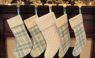 diy christmas stocking tutorial, christmas decorations, seasonal holiday decor, DIY Christmas Stocking