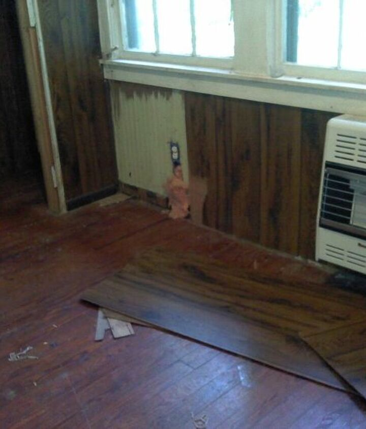 Old floor boards. This is before we did anything at all.