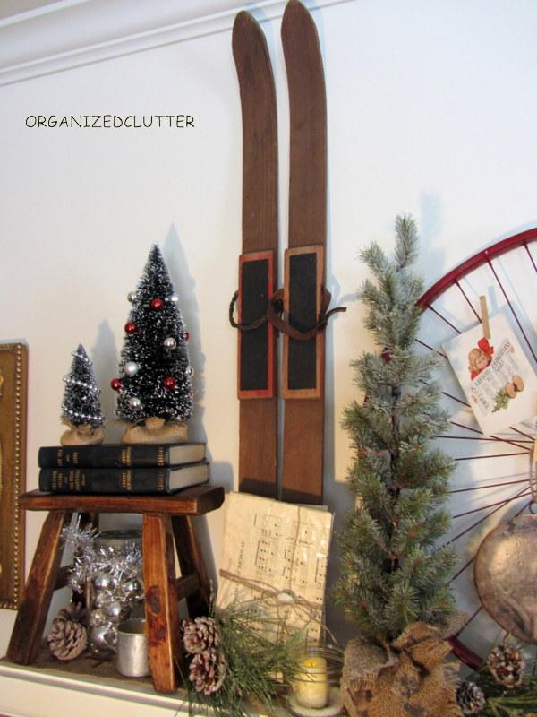 Vintage Rustic Christmas Mantel Decorations Repurposing Upcycling Seasonal Holiday Decor More