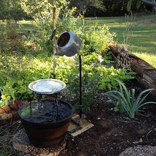 my kettle fountain my  hubby made