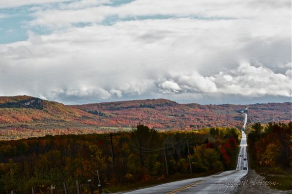 winding hills of the Beaver Valley in Ontario