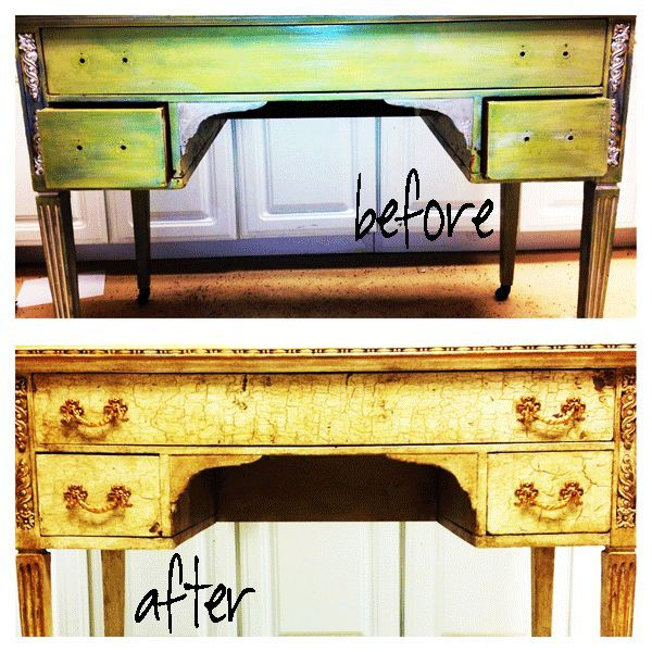 Ghosts Of Furniture Past Writing Desk With Annie Sloan Chalk Paint Painted