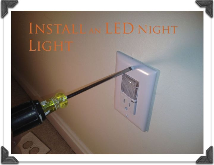 led night lights a must for hallways, electrical, lighting, Install a Hard Wired LED Night Light