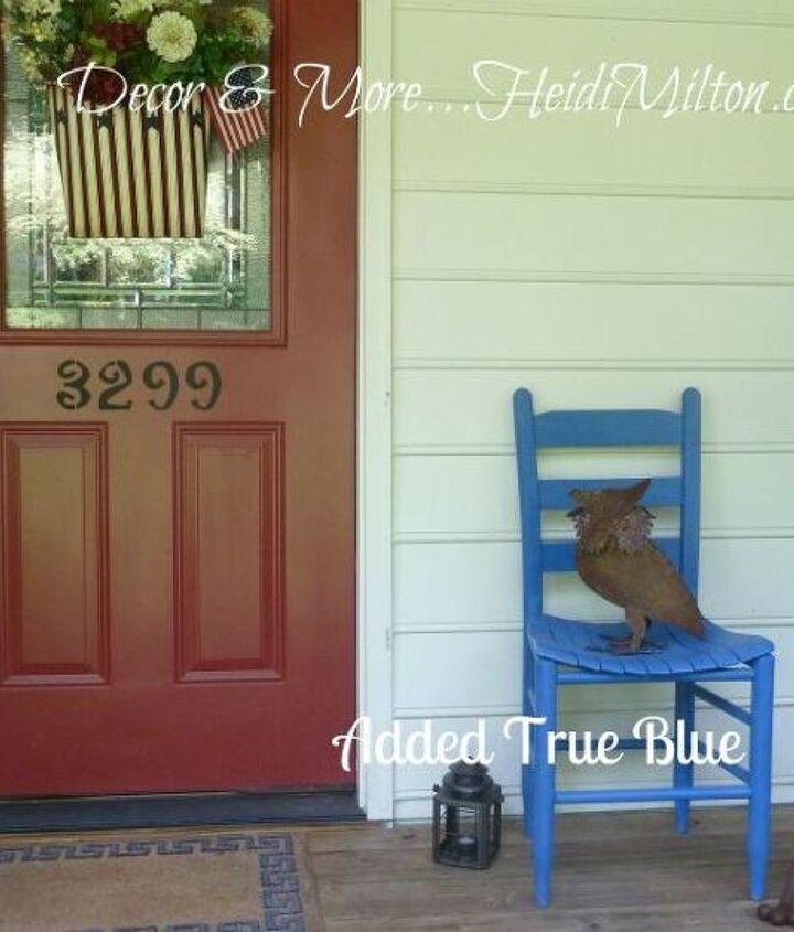 Patriotic front porch makeover