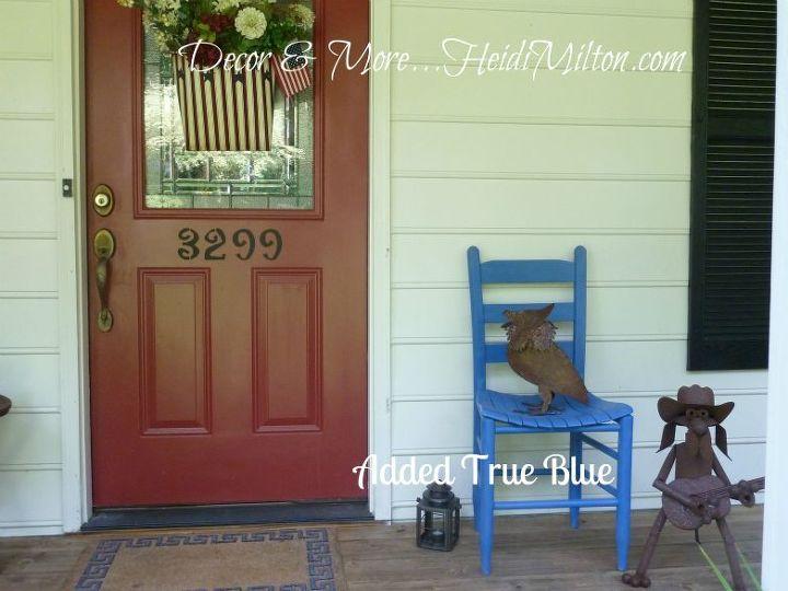 patriotic front porch, curb appeal, outdoor living, porches, Patriotic front porch makeover