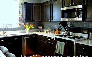 kitchen remodel and no it s not white, countertops, kitchen design, painting, Kitchen remodel painting builder grade oak cabinets