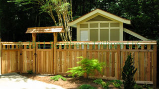 we re looking into the simtex vinyl privacy fence that is sold at home depot anyone, fences, outdoor living