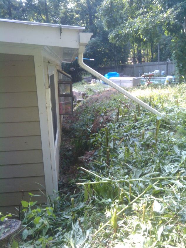 Before... like the improvised gutter solution? :)