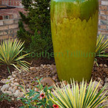 a few photos of a simple and attractive water feature we installed for a client as, gardening, A closer look at the large urn set as a pondless water feature