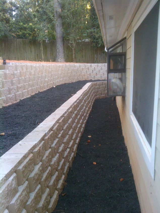 There are french drains behind each wall, and against the house... running far away from the home!