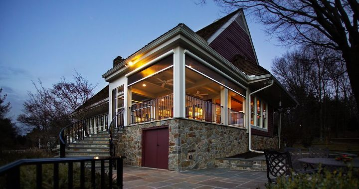 newly completed porch addition columbia md, curb appeal, outdoor living, porches
