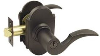recommendation for a good front door lock, doors, home security, Emtek Cortina Single Cylinder Keyed Entry