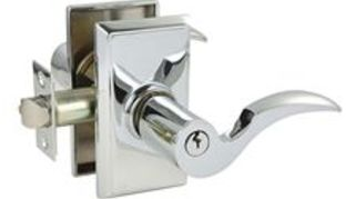recommendation for a good front door lock, doors, home security, Emtek Cortina Single Cylinder Keyed Entry Regular Rosette