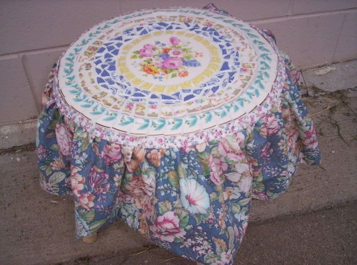 This is a skirted stool.
