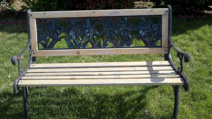 an old bench redone to make look brand new the bench is 25yrs old, painted furniture