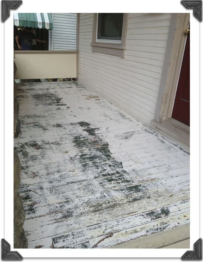 restore paint for 100 year old porch, curb appeal, outdoor living, painting, porches, Paint Stripped 100 Year Old Porch