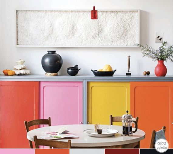 Color Blocking: Kitchen Cabinets