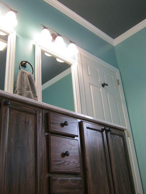 master bathroom reveal, painting, wall decor, Master Bathroom Reveal