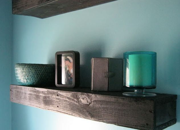 Pallet Wood Floating Shelves