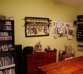 DIY craft storage on the cheap & Studio craft room organization using pallets and other budget ...