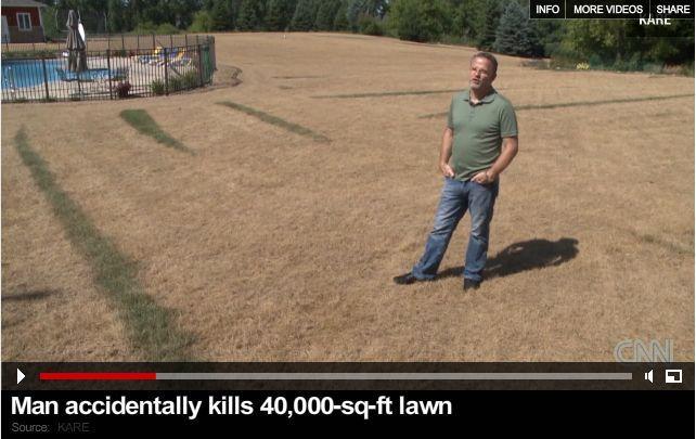 guy in lawn