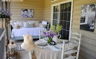 our back porch, home decor, porches
