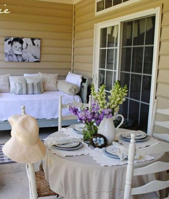 our back porch, home decor, porches