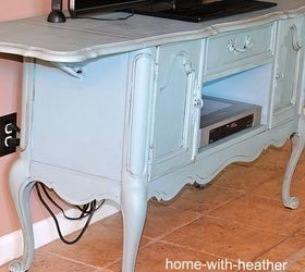 Thrift Store Buffet Turned Entertainment Center, Painted Furniture,  Repurposing Upcycling