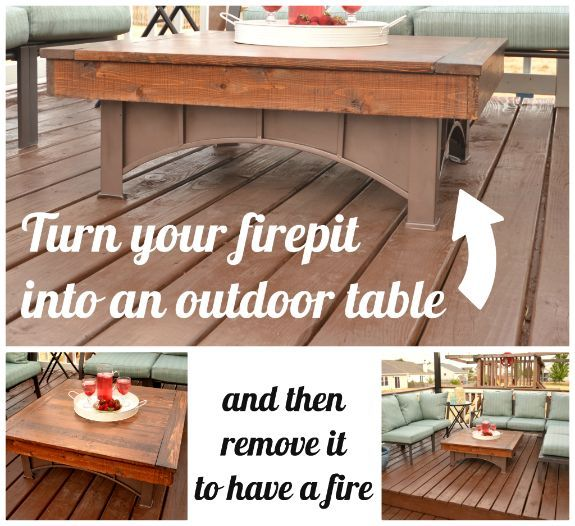 Fire pit table top hometalk for How to make a pallet fire pit table