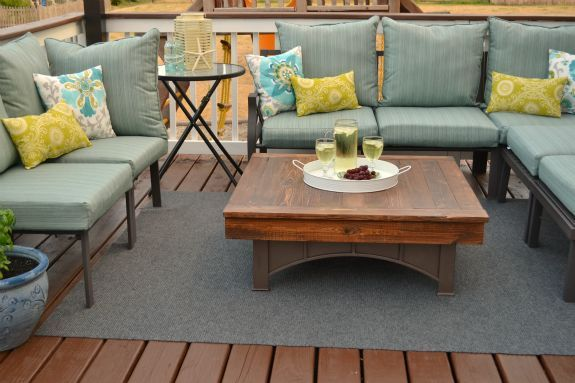 fire pit table top, decks, outdoor furniture, outdoor living, painted furniture