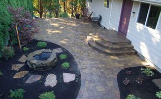 backyard renovation in northwest portland, concrete masonry, decks, outdoor living, patio, After