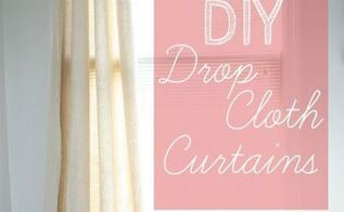 diy drop cloth curtains, home decor, window treatments, windows