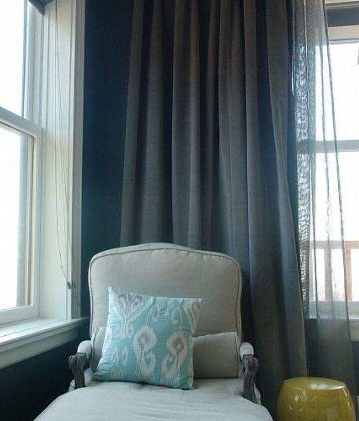 vintage velvet drapes in the master bedroom, home decor, windows