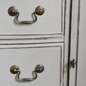 dresser turned vanity, painted furniture
