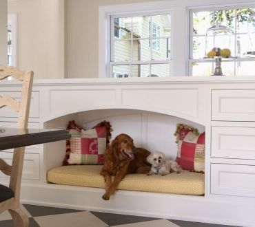 This space can be easily created with many of the cabinetry lines AK uses, and can be tailor made to the size and weight of your pets! It's fabulous, isn't it? http://www.akatlanta.com/Atlanta-Kitchen-Renovations-By-AK