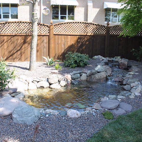After picture of the ecosystem pond in Chelsea, MI.