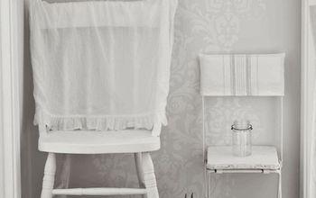 repurposed shirt slipcovers, painted furniture, repurposing upcycling