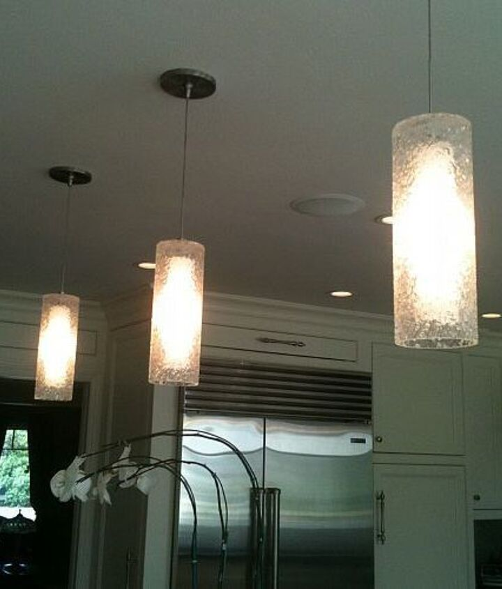 Here's a closer look at the lighting this client chose.  We love it! They are on dimmers and give off light similar to candlelight. Very fun accent lights!