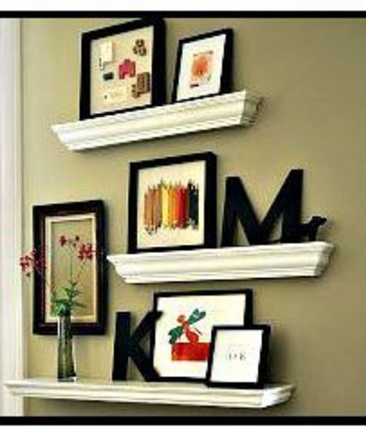 crown molding framed shelf via Worthington Millwork