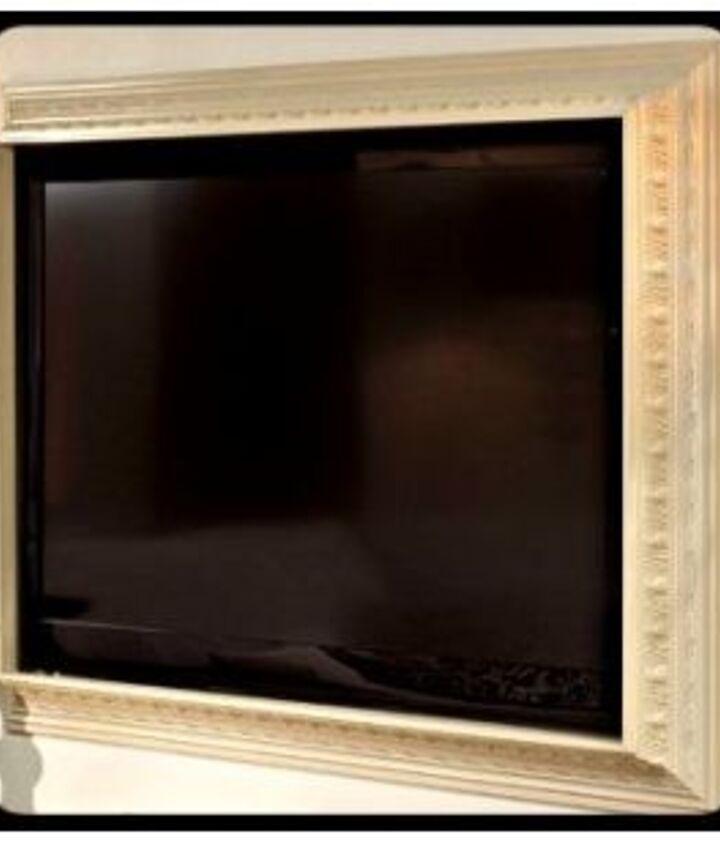 crown molding framed tv via Worthington Millwork